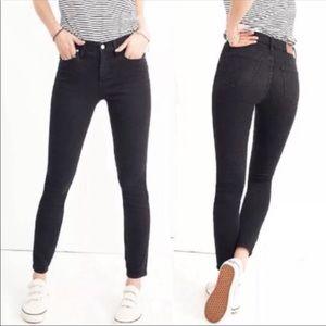 "Madewell Jeans 9"" High Rise Skinny Black"